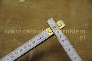 metrówka drewniana z nadrukiem